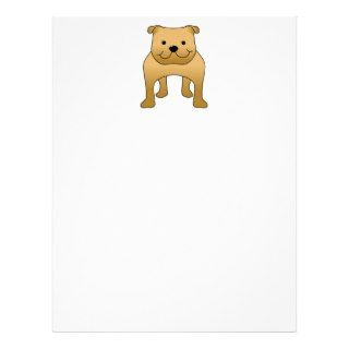 Red Bulldog. Dog Cartoon. Letterhead Design
