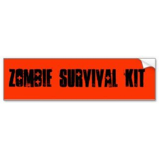Zombie, Survival, Kit Bumper Stickers