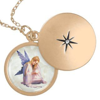 Guardian Angel Locket Necklace