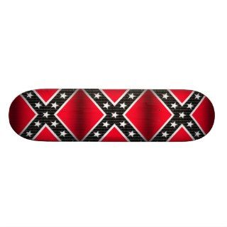 Abstract Red & Black Rebel Confederate Flag Skateboard Decks