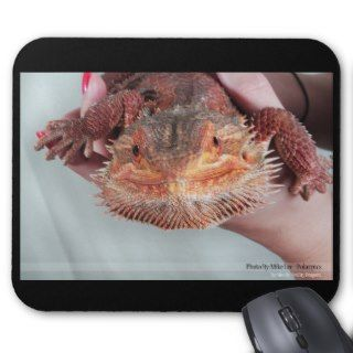 Red bearded dragon mousepad