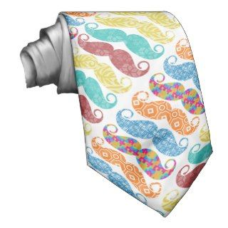 Mr. Mustache Retro Vintage Hipster Gifts Neck Ties