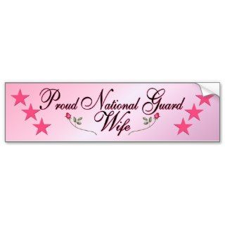 Pink & Proud National Guard Wife Bumper Sticker