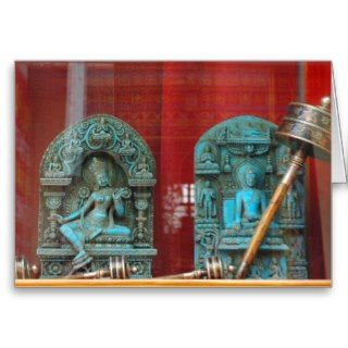 Arya Tara and Lord Buddha, Bodha, Nepal Greeting Card