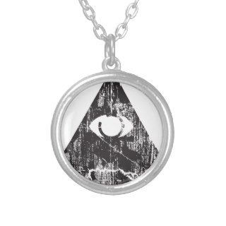 All Seeing Eye Personalized Necklace