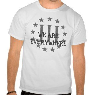 Three Percent   We Are Everywhere T Shirt