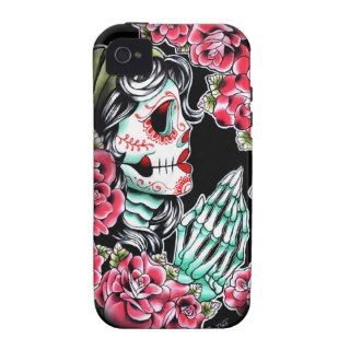 Dia De Los Muertos Sugar Skull Tattoo Flash Case Mate iPhone 4 Covers