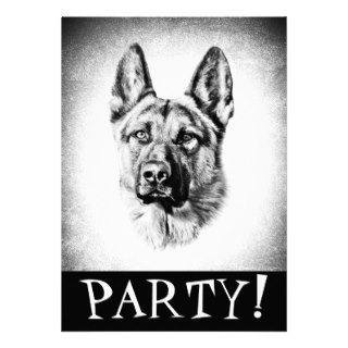 custom german shepherd dog invitation to personalize this particular