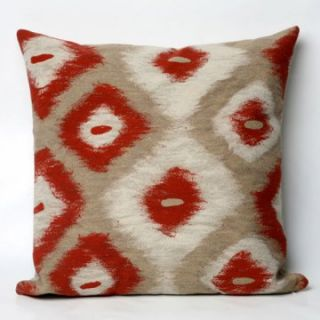 Liore Manne Ikat Diamonds Red Pillow Set   Decorative Pillows at