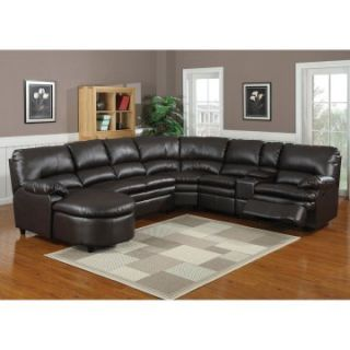 Pacific Nicole Leather Reclining Sectional   Sectional Sofas at