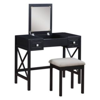 Anna Black Vanity Set   Vanities