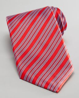 Stefano Ricci Diagonal Stripe Tie, Red/Blue
