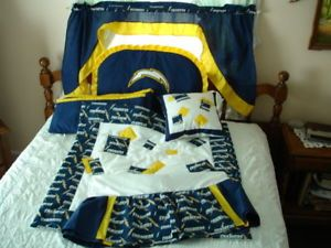 Custom Made Baby Nursery Crib Bedding Set Made with San Diego Chargers New