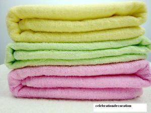 1pc Bamboo Fiber Bath Towel 140x70cm Pure Color Bath Towel