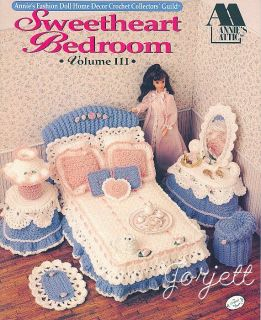 Sweetheart Bedroom Annie's Crochet Patterns Fit Barbie Fashion Dolls