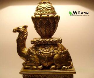"""Antique Vintage Large""""Camel"""" Bedside Table Lamp"""
