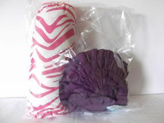 Teen Vogue Flora Fauna Purple Pink White 2P Decorative Pillow Pack