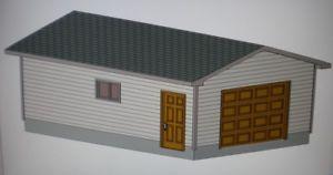 16' x 24' Garage Plans Storage Shed Barn Materials List