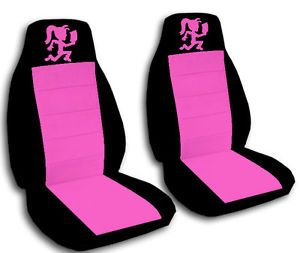 Hatchet Girl Car Seat Covers Black Pink Front Set