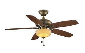 Hampton Bay Sibley 52 inch Ceiling Fan with Light Kit Oil Rubbed Bronze Finish