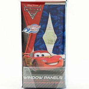 Disney Pixar Cars Window Panels Curtains Drapes Kids Bedroom Boys McQueen