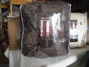 Chris Madden Mystique Interlined Drapes Brown Pinch Pleated Curtains
