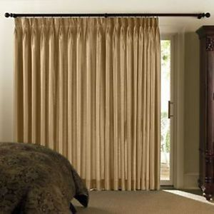 Chris Madden Mystique Interlined Drapes Pure Gold Pinch Pleated Curtains