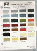 1978 Dodge Color Chart