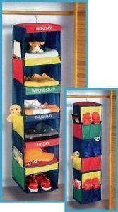 new kids daily activity organizer 6 shelf hanging closet