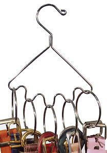 Belt and Accessory Hanger with Rings Closet Organizer