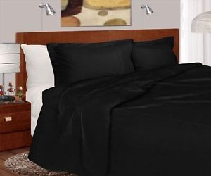 3pc Full Queen Black Bed Comforter Duvet Cover Shams Microfiber