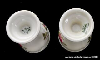 Pair of Two Rosenthal Moss Rose Porcelain Egg Cups Selb Germany Gilded Vintage
