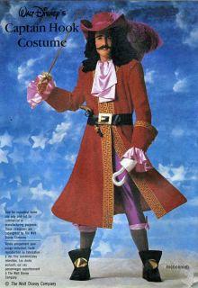 Men's Disney Captain Hook Costume Sewing Pattern 40 42