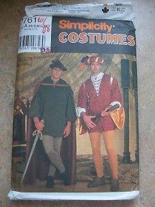 Halloween Costume Sewing Pattern Medievel Robin Hood UC