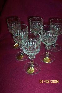 Nachtmann Angelique Crystal Cortial Glasses 6 Bavaria 24 Lead Crystal Bleikri