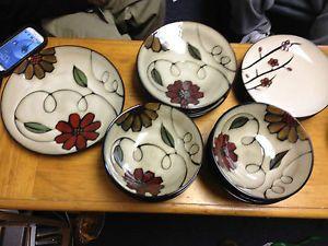Jaclyn Smith Stoneware Dinnerware 24 Piece Set