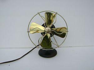 "Vintage Polar Cub Miniature Electric Fan "" Brass Blades """