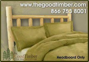 New Full Pine Log Headboard Rustic Furniture Bed Beds