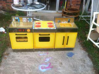 vintage metal kitchen toy appliances