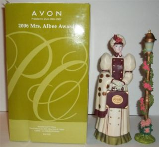 Avon 2006 Mrs Albee Award Figurine Presidents Club Mint in Box