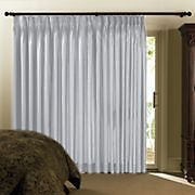 Chris Madden Mystique Interlined Drapes Cool White Pinch Pleated Curtains