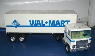"Vintage Metal Wal Mart Tractor Trailer Sam's Club Nylint 25"" Semi Toy 18 Wheeler"