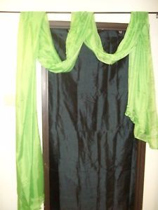 1 Pcs Lime Green Scarf Voile Window Panel Solid Sheer Valance Curtains