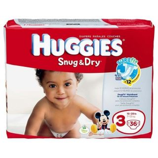 4 Packages of Huggies Snug Dry Diapers Size 3 16 28 Lbs