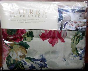 Ralph Lauren Surrey Garden Floral Full Queen Duvet Comforter Cover New $355