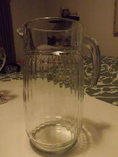 Large Glass Beverage Pitcher Water Beer Nice