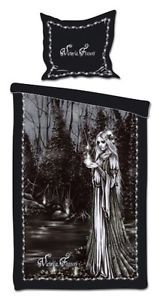 Victoria Frances Fuego Fatuo Gothic Lady Single Gothic Bedding Set Duvet Cover