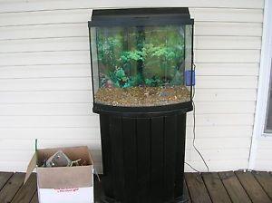 40 Gallon Odyssea Bow Front Glass Aquarium Fish Tank With