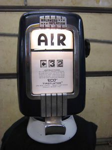 Eco Tireflator Air Meter Pump Model 97 Wall Mount Gas Station Tire Air Pump