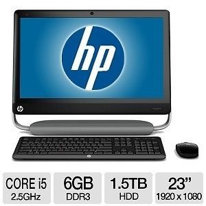 HP TouchSmart 520 1047C Intel Quad i5 2400S 2 5GHz 1 5TB 6GB All in One 23""